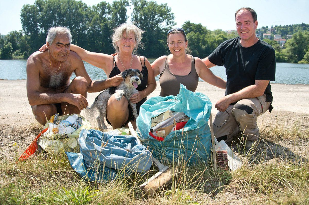 Vorbildliches Bürgerengagement: Befreiung des Veitshöchheimer Mainufers von Müll