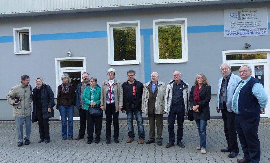 Besuch der PBS in Rotava, ein Werk zur Herstellung von Hochwasserschutz aus Aluminium