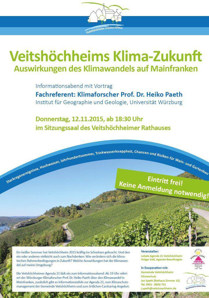Veitshöchheims Klima-Zukunft: Informationsabend mit Klimaforscher Prof. Dr. Heiko Paeth am 12. November im Rathaus