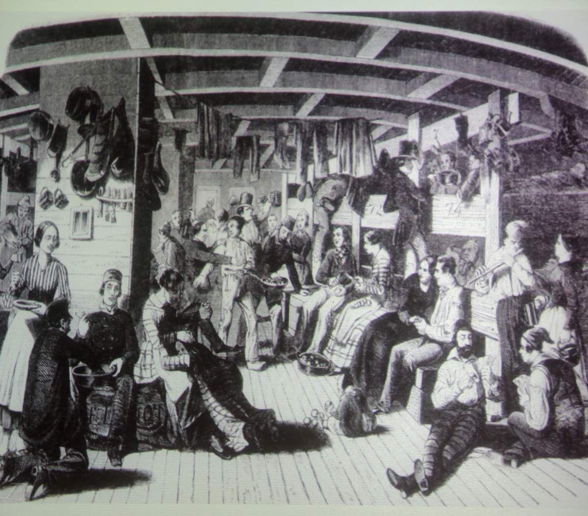 Aufbruchstimmung bei vielen Juden im Alter von 20 bis 25 Jahren, die massenhaft per sechswöchiger Schiffsreise in die USA auswanderten und dort wie die Lehmann-Brüder zu Reichtum, Glanz und Ansehen kamen.