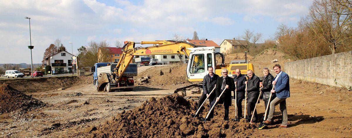 DIE ENERGIE tätigt Spatenstich für neue Betriebsstelle in Veitshöchheim - Ein Zwei-Millionen-Euro-Projekt