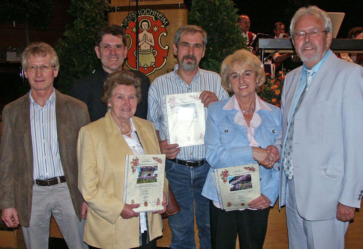 Preisverleihung beim Blumenschmuckwettbewerb 2007