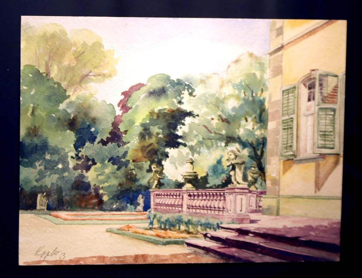 Hofgartenmotiv 1953