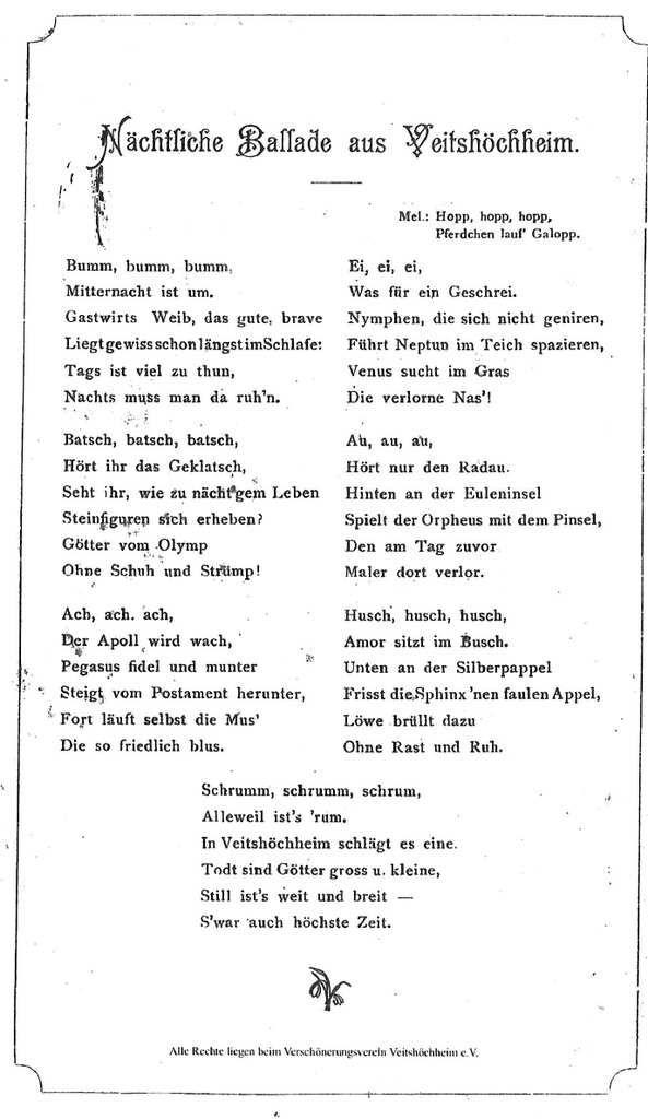 120 Jahre Verschönerungsverein Veitshöchheim - Teil 1: Festakt (nun komplett)