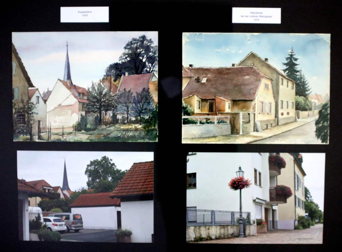 Koppesland 1974 und Mainlände/Untere Maingasse 1978