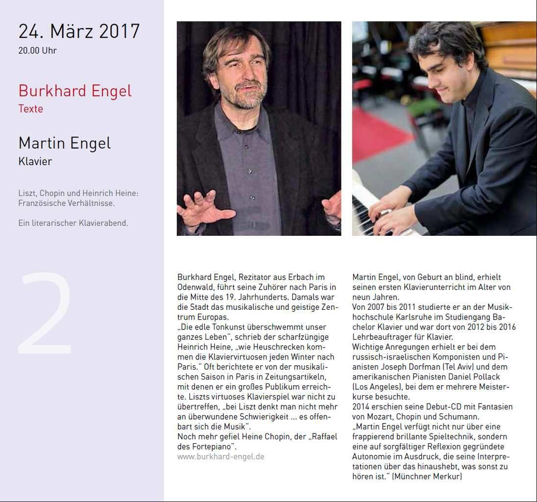 Neue Veranstaltungsreihe Wortspiel - literarisch musikalische Begegnungen in der Veitshöchheimer Bücherei im Bahnhof im März und April 2017