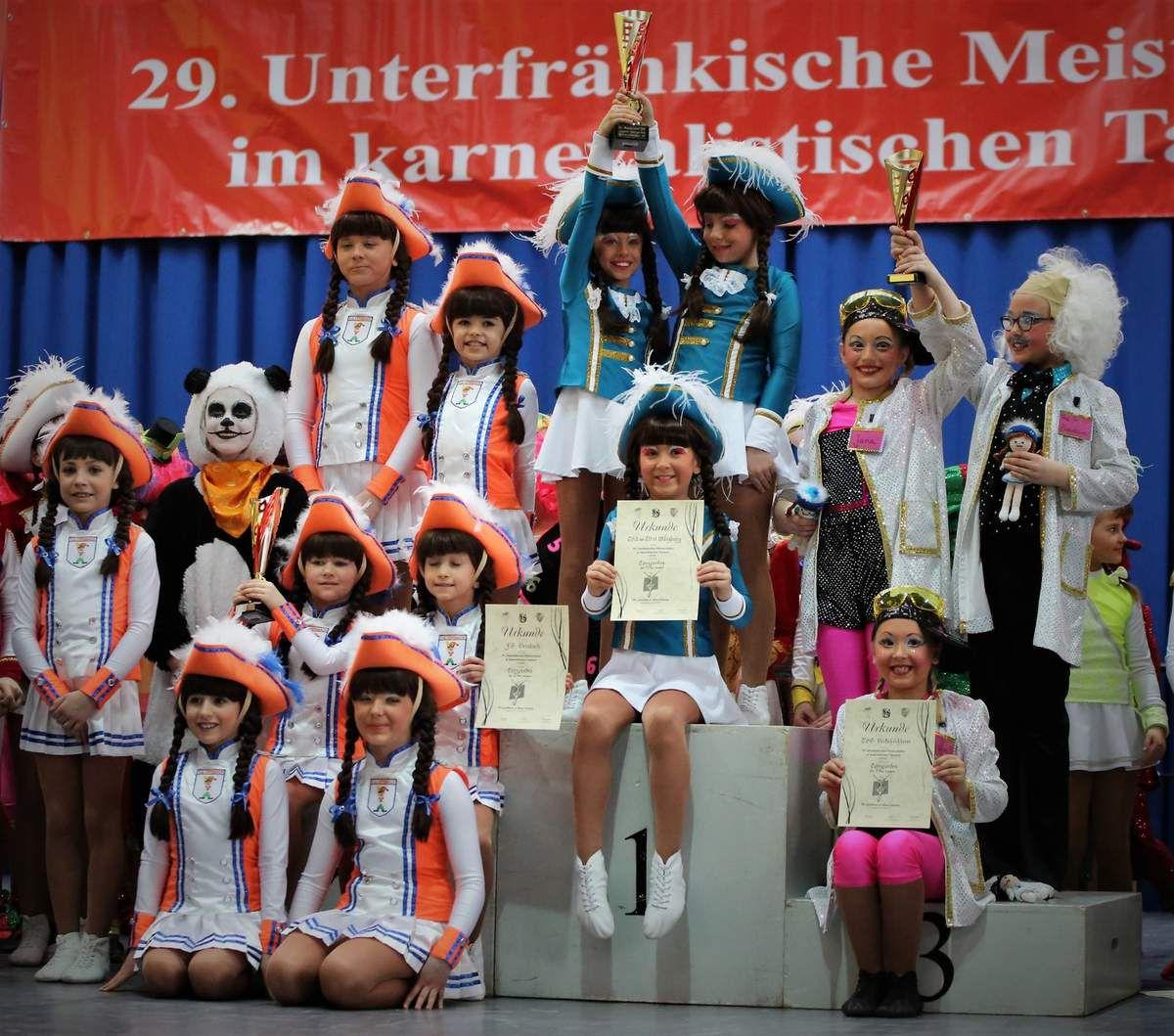Unterfrankens beste Jugendgarden: 1. TV 73 Würzburg – 423 P. , 2. FG Versbach – 386 P., 3. TSG Veitshöchheim – 380 P.