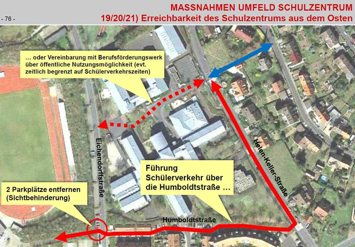 Zustimmung GR. Soll mit der Parkraumumgestaltung in der Eichendorffstraße umgesetzt werden.