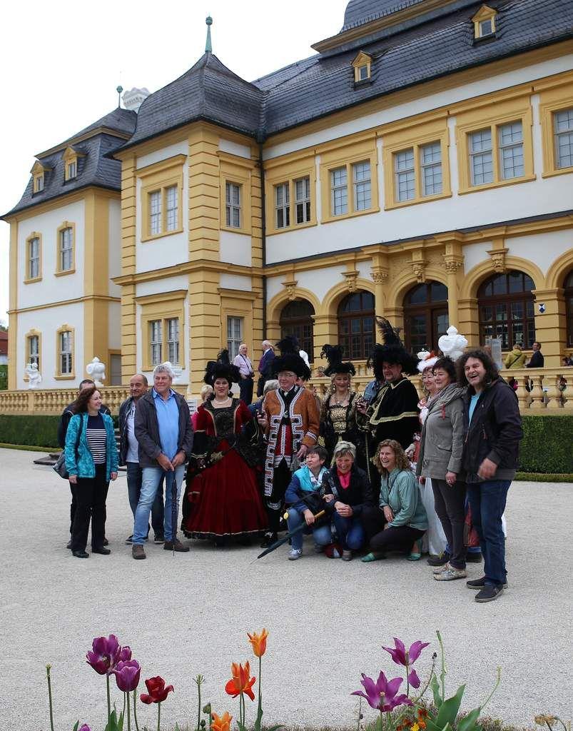 Besuchergruppe aus dem Herzogtum Sachsen-Saalfeld in Thüringen