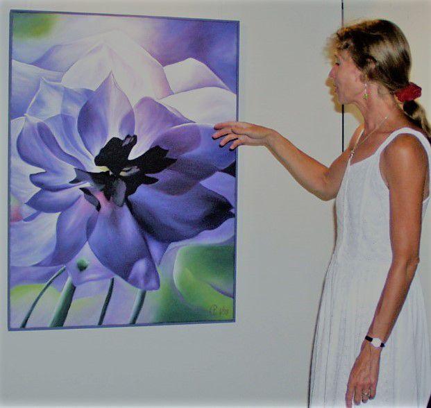 Bereits 2001 präsentierte die Zellinger Künstlerin Petra Chelmieniecki im Veitshöchheimer Rathaus ihre in leuchtender Farbkraft erstrahlenden Werke der Öl- und Acrylmalerei (Foto D. Gürz).