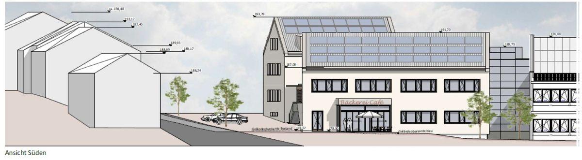 So Soll Der Neubau Eines Geschäftshauses An Der Einfahrt Zum Birkental  Aussehen, Den DIE ENERGIE