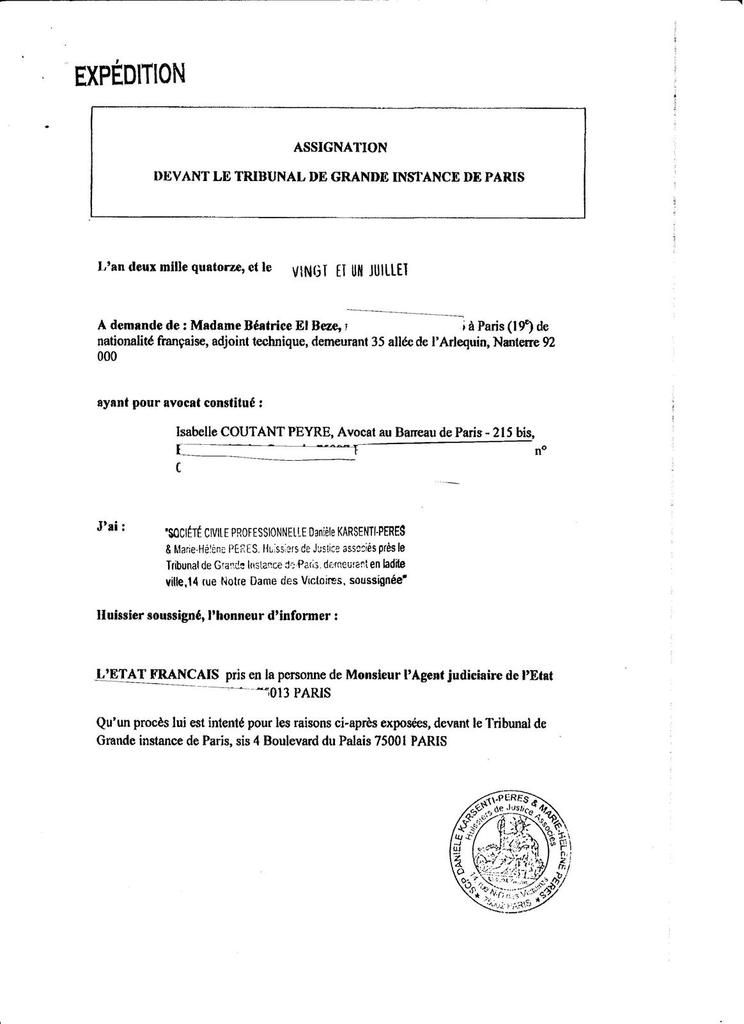 B. EL BEZE /QUELQUES DOCUMENTS PREUVES DE MON AFFAIRE