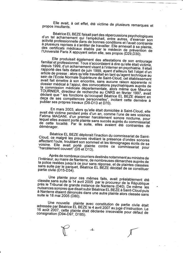 Grave FRAUDE ! par la Cour d'Appel pour bloquer ma plainte contre Police !/ voir mon pourvoi cassation /juill 2016 B.ELBEZE