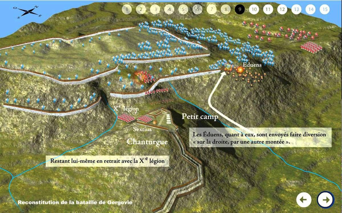 Jules César dénigre son armée après sa défaite contre Vercingétorix à Gergovie