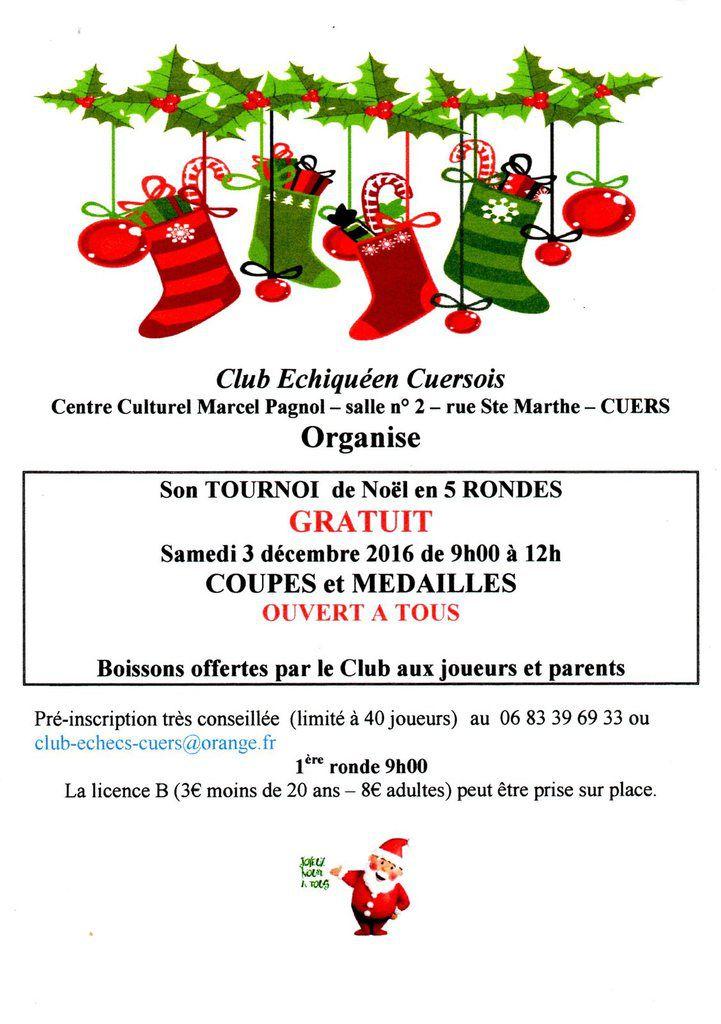 2016 - Tournoi de Noël à Cuers
