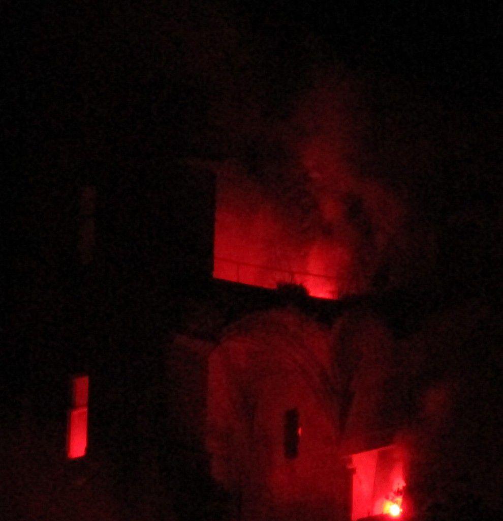 L'embrasement du château de Lavardin