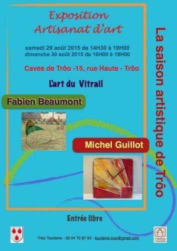 Deux créateurs de vitrail exposeront à la fin de la semaine dans les caves communales de Trôo