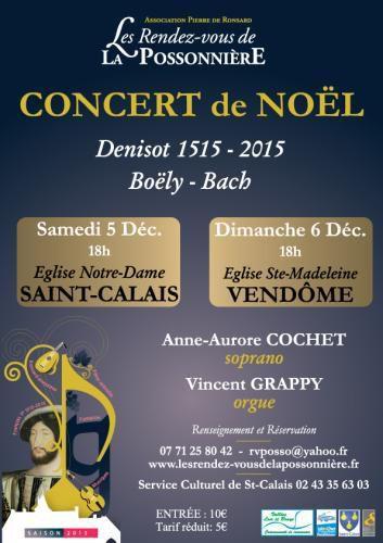 Dans le cadre des Rendez-vous de la Possonnière, l'association Pierre de Ronsard organise deux concerts à Saint-Calais et à Vendôme