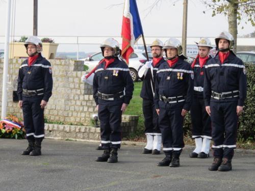 Les pompiers du centre de secours de Montoire