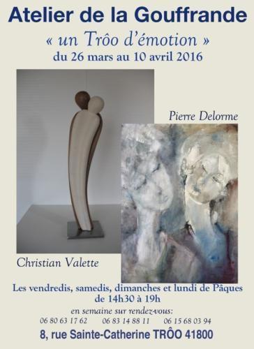 Deux artistes exposent à l'Atelier de la Gouffrande