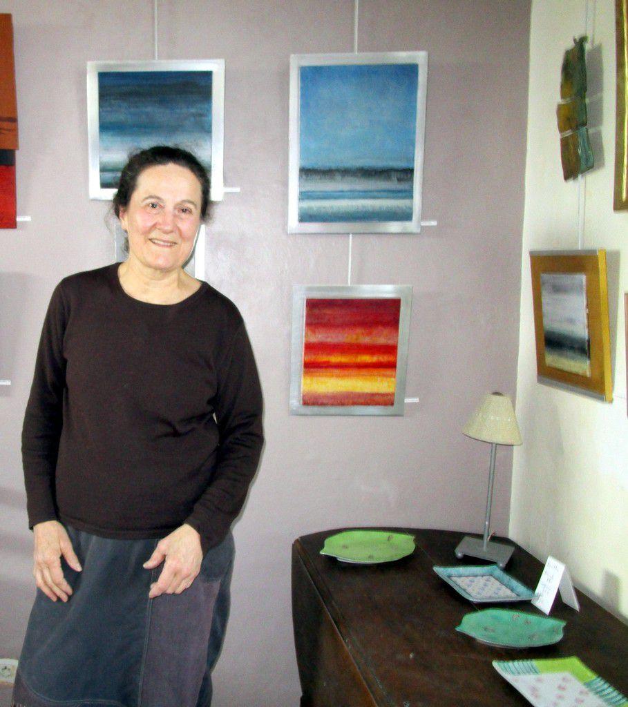 Sabine Duthil dans son atelier
