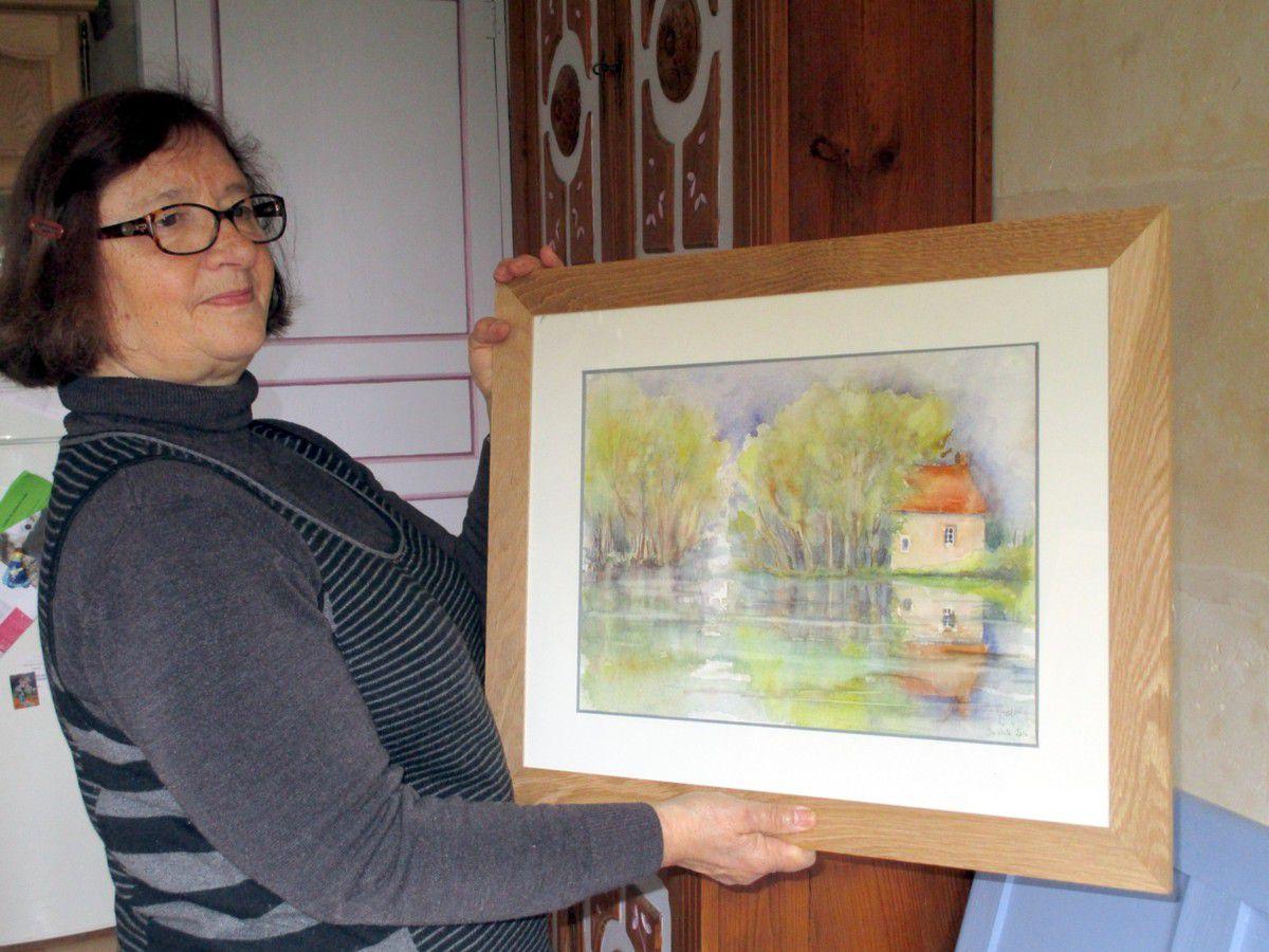 Françoise Guyot  a choisi le thème de l'eau pour cette année