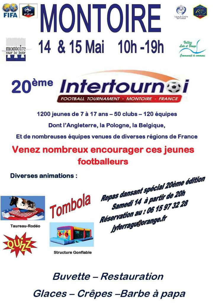 20ème football inter tournoi