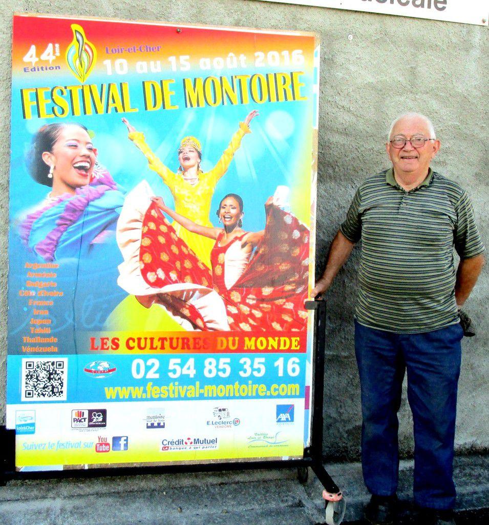 Jean-Claude Mercier, 44 ans de bénévolat au Festival de Montoire
