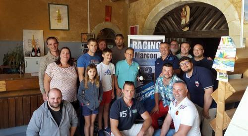 La famille Fesneau a accueilli la délégation du Racing