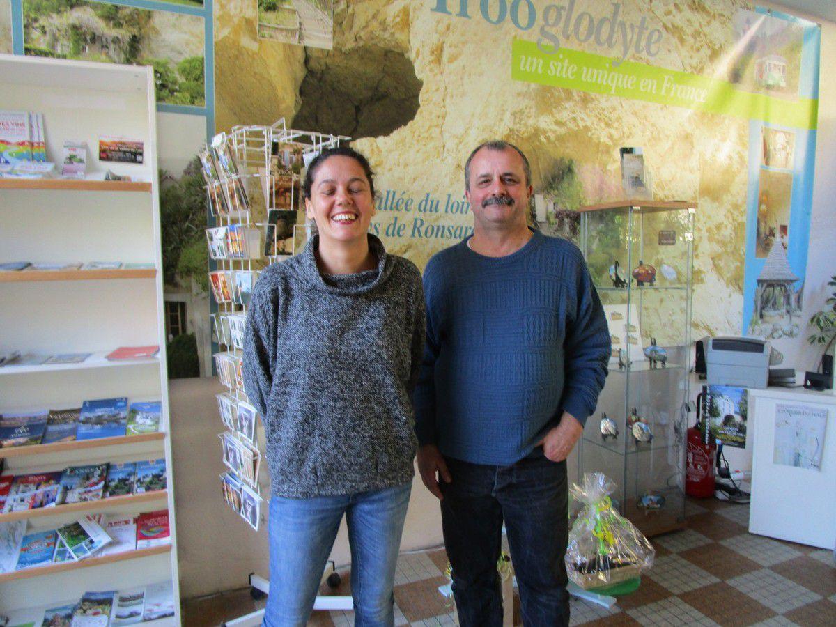 Delphine et Jean-Lux Nexon, le maire de Trôo
