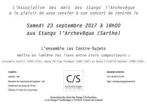"""concert organisé par l'association """"Les Amis des étangs l'archevêque"""""""