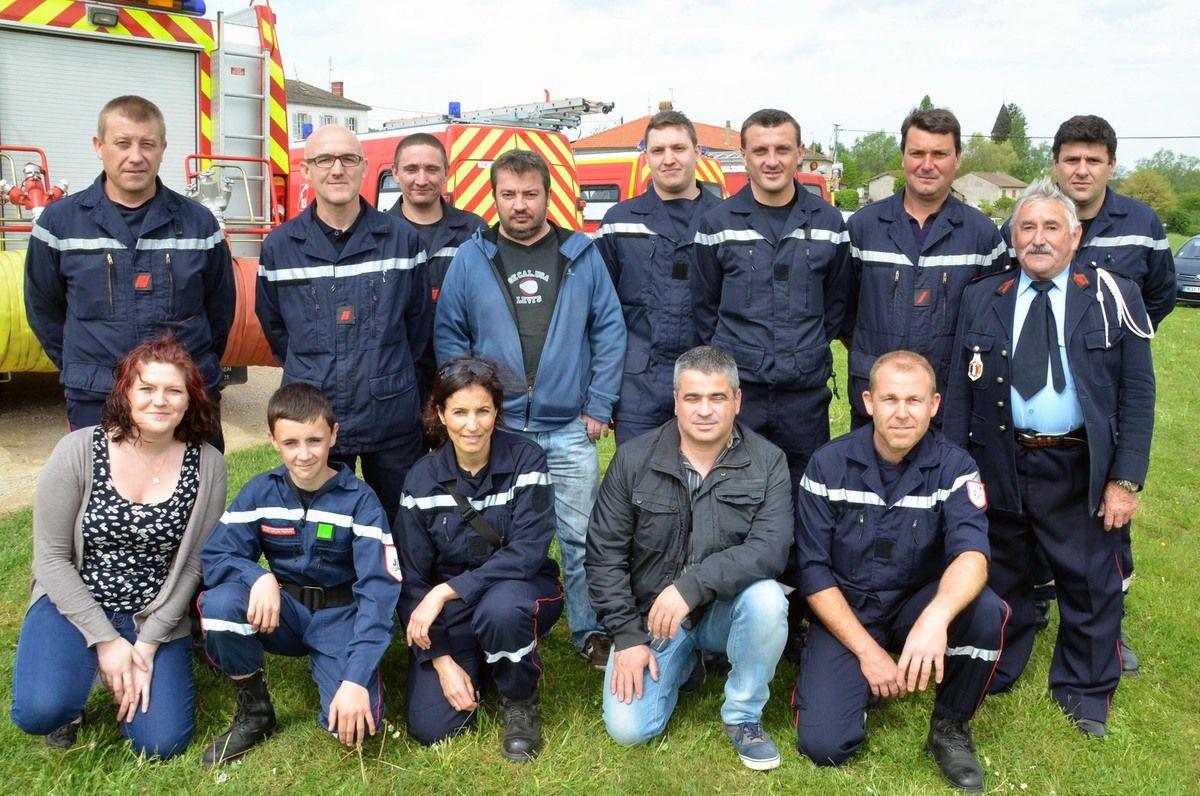 Les JSP (jeunes sapeurs-pompiers), et les CPINI (centre de premier intervention non intégré) d'Ozan, Gorrevod et Reyssouze.