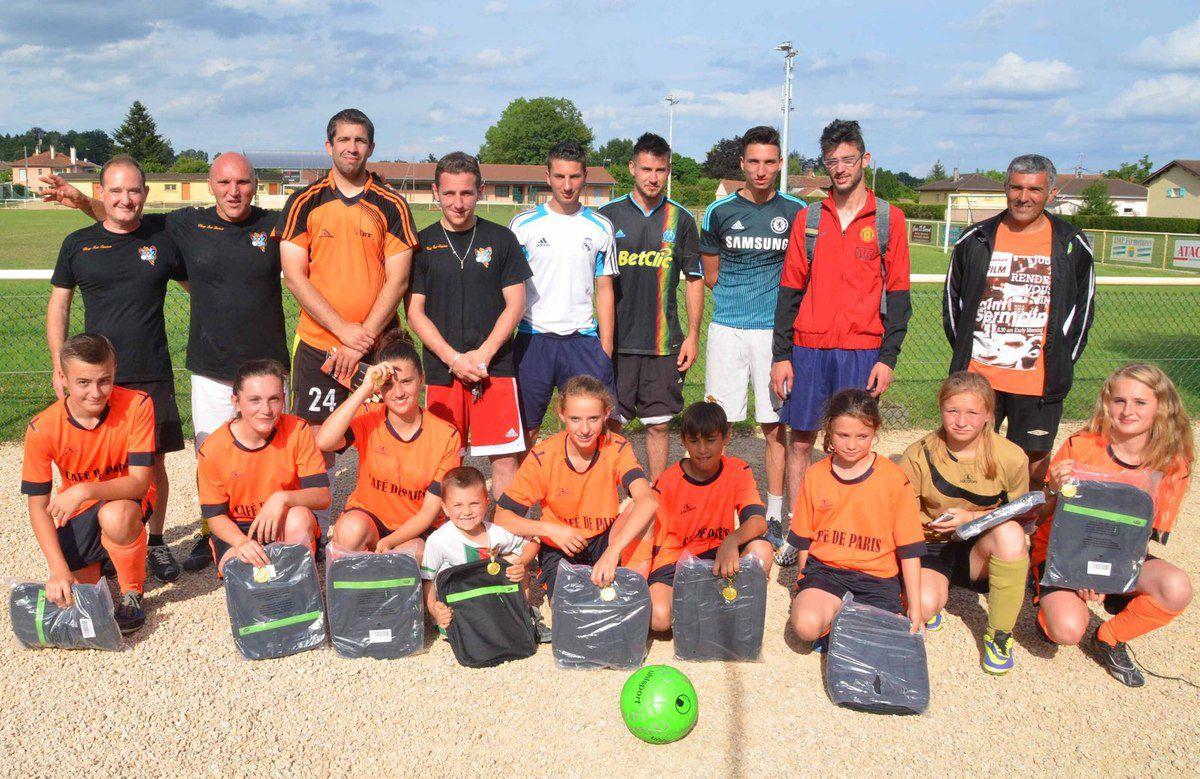 Anime Joubert a aussi animé le premier tournoi de football du PMU et de l'USPA.