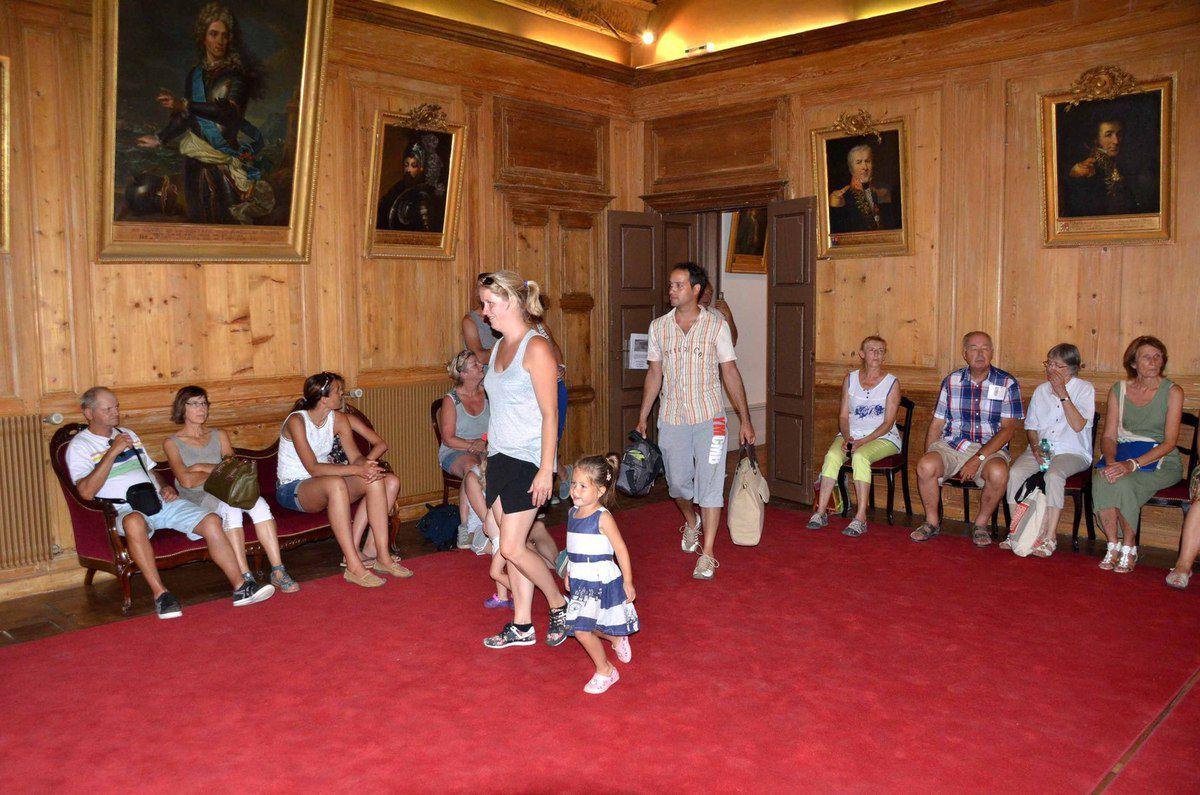 Un groupe de touristes des Pays Bas était présent à la première des deux visites de la ville.