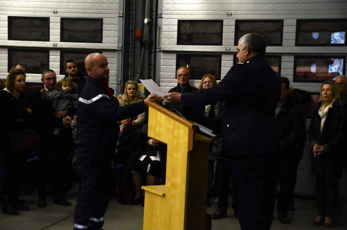 Le Centre d'incendie et de secours a fêté la Sainte-Barbe.