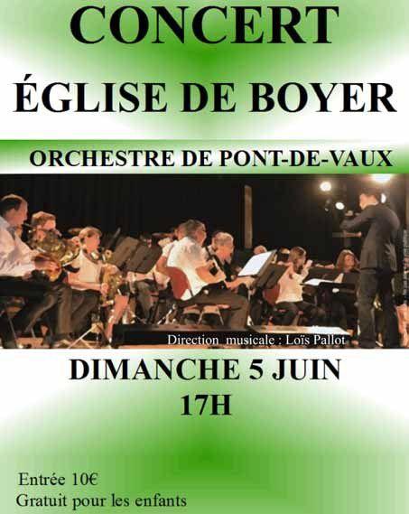 L'Orchestre de Pont-de-Vaux en concert à Boyer.