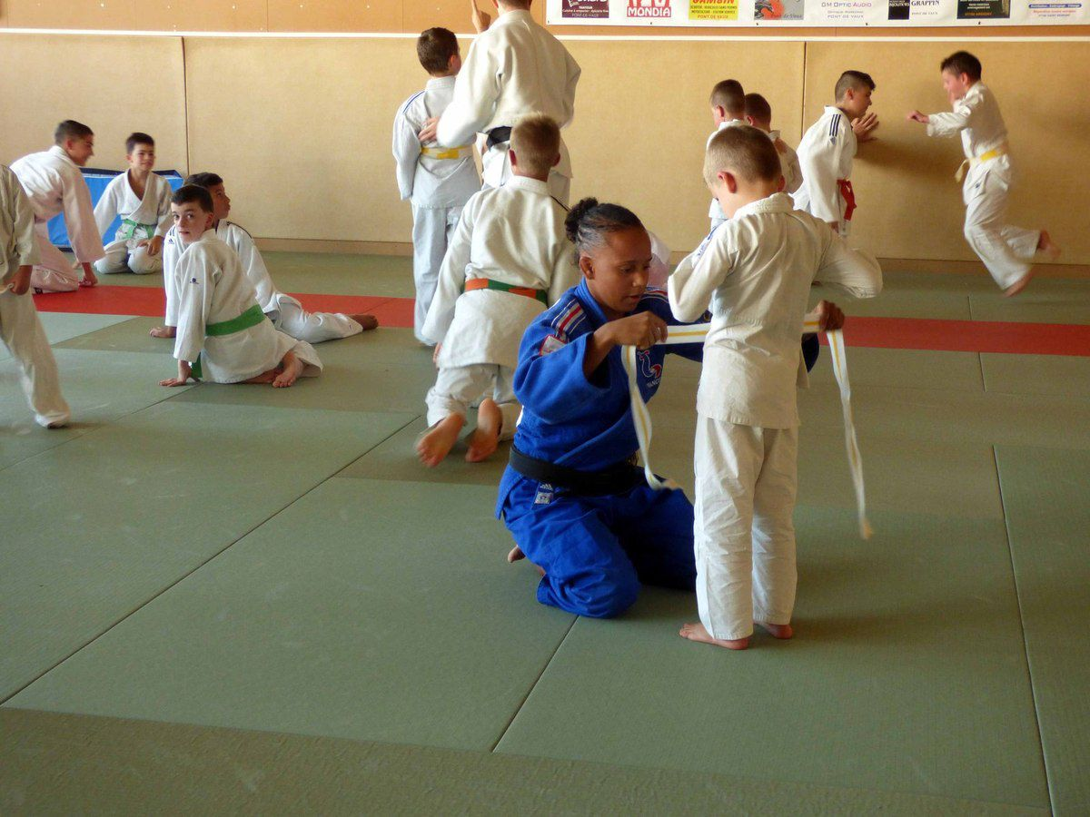 Rentrée du Judo Club Pontévallois avec les judokates du Red Star Club de Champigny (RSCC).