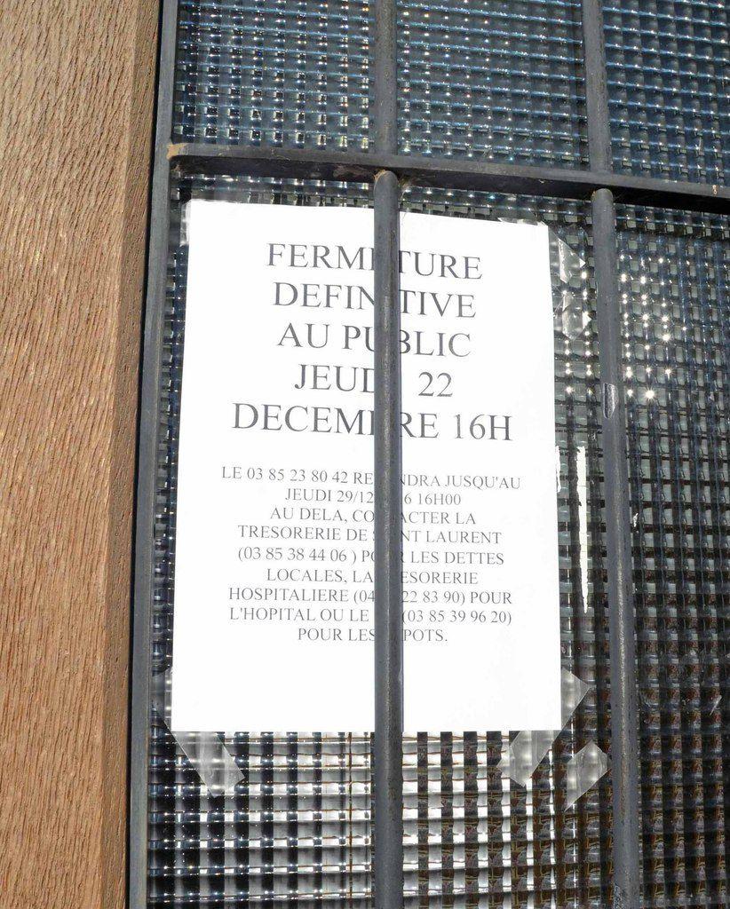 L'antenne du Trésor public a fermé ses portes.