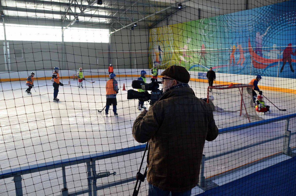 La patinoire était une sujet de reportage sur France 3 Rhône-Alpes.