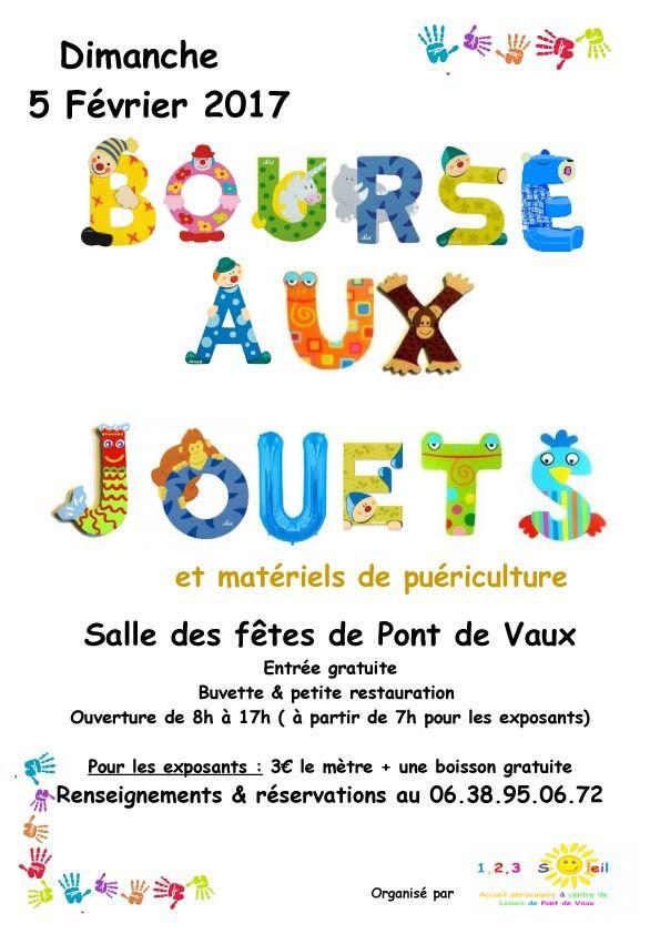 La garderie périscolaire organise une bourse aux jouets et objets de puériculture le dimanche 5 février.