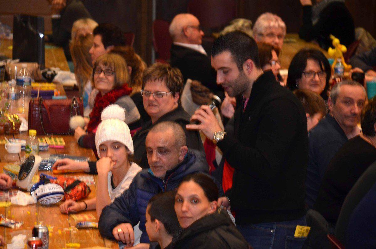 Participation moyenne au loto et au concours de tarot de l'USPA.