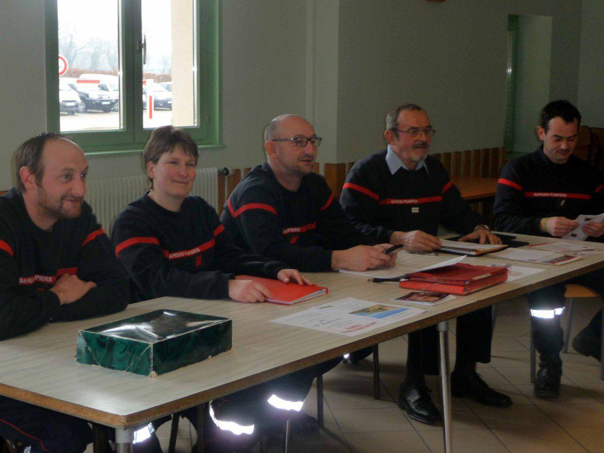 Les pompiers de Saint-Bénigne ont tenu leur assemblée générale.