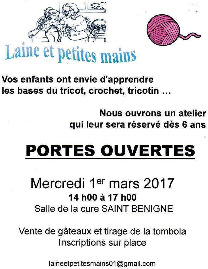Une journée portes ouverte sur le tricot mercredi à Saint-Bénigne.