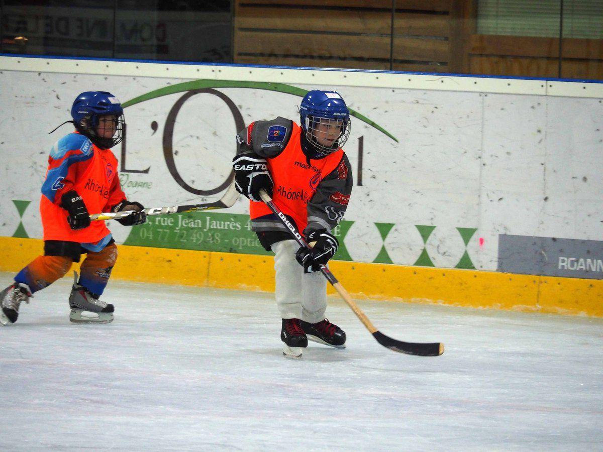 Première sortie pour les jeunes hockeyeurs U7 et U9.