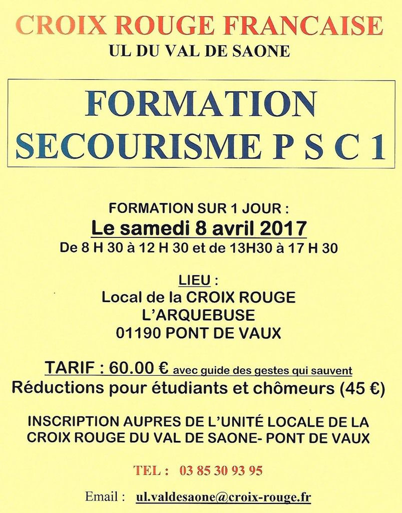 Une formation au secourisme.