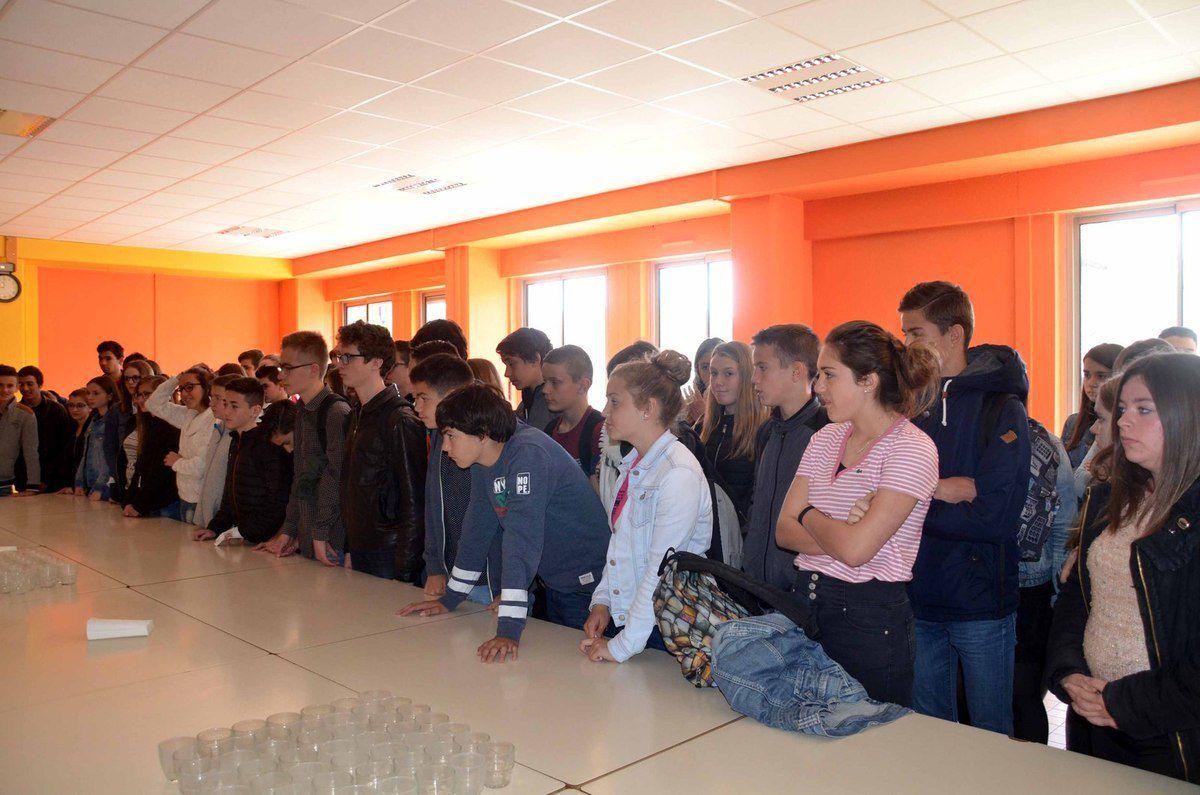 Une centaine de collégiens de 3ème ont reçu leur attestation PSC1.