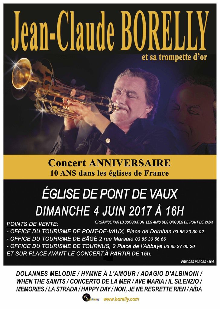 Jean-Claude Borelly en concert dimanche prochain à l'église de Pont-de-Vaux.
