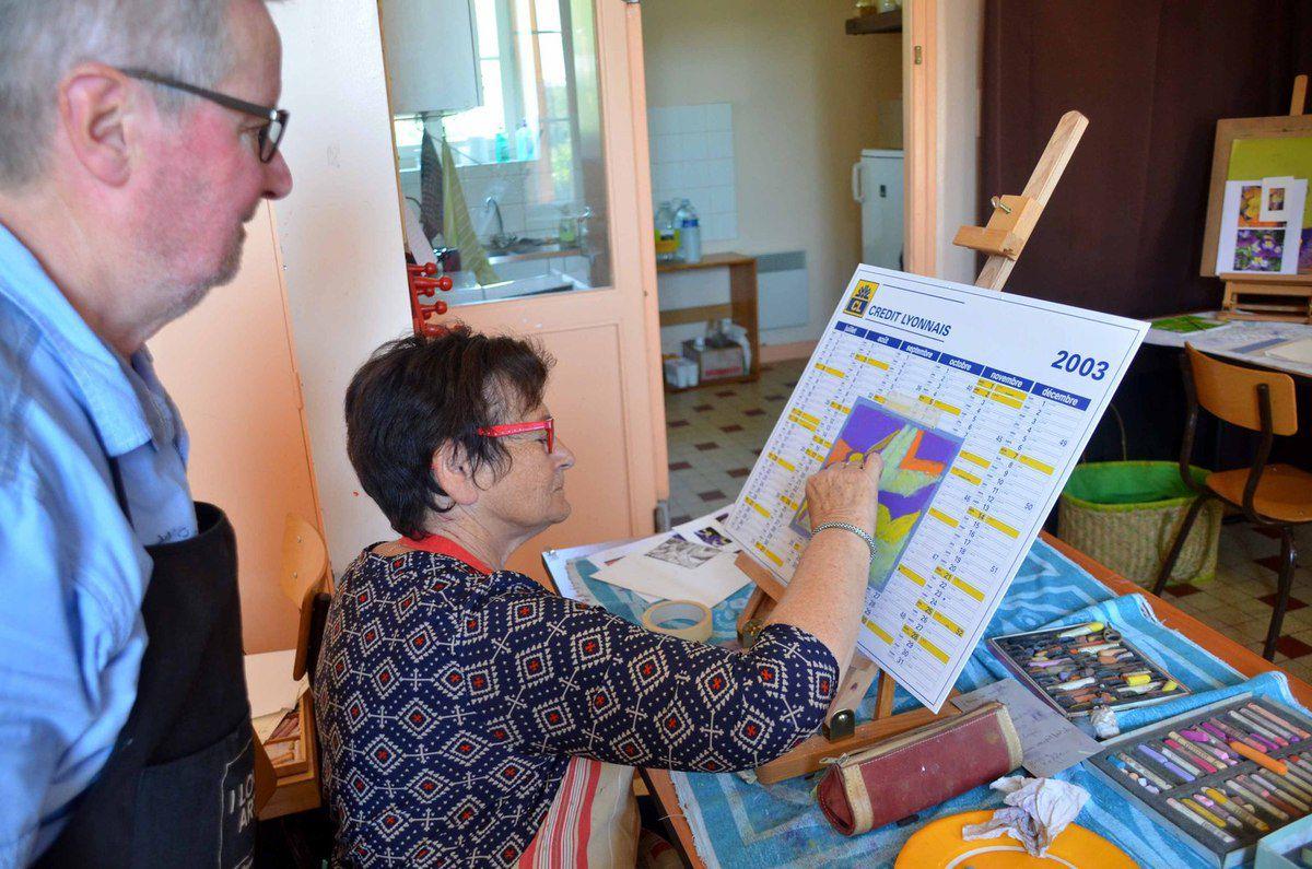 Exposition des ateliers d'arts graphiques du LCO ce week-end à la salle des fêtes d'Ozan.