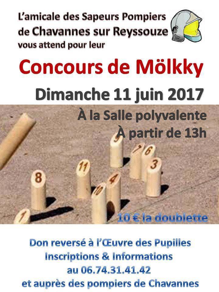 Les sapeurs-pompiers de Chavannes organisent un concours de mölkky.