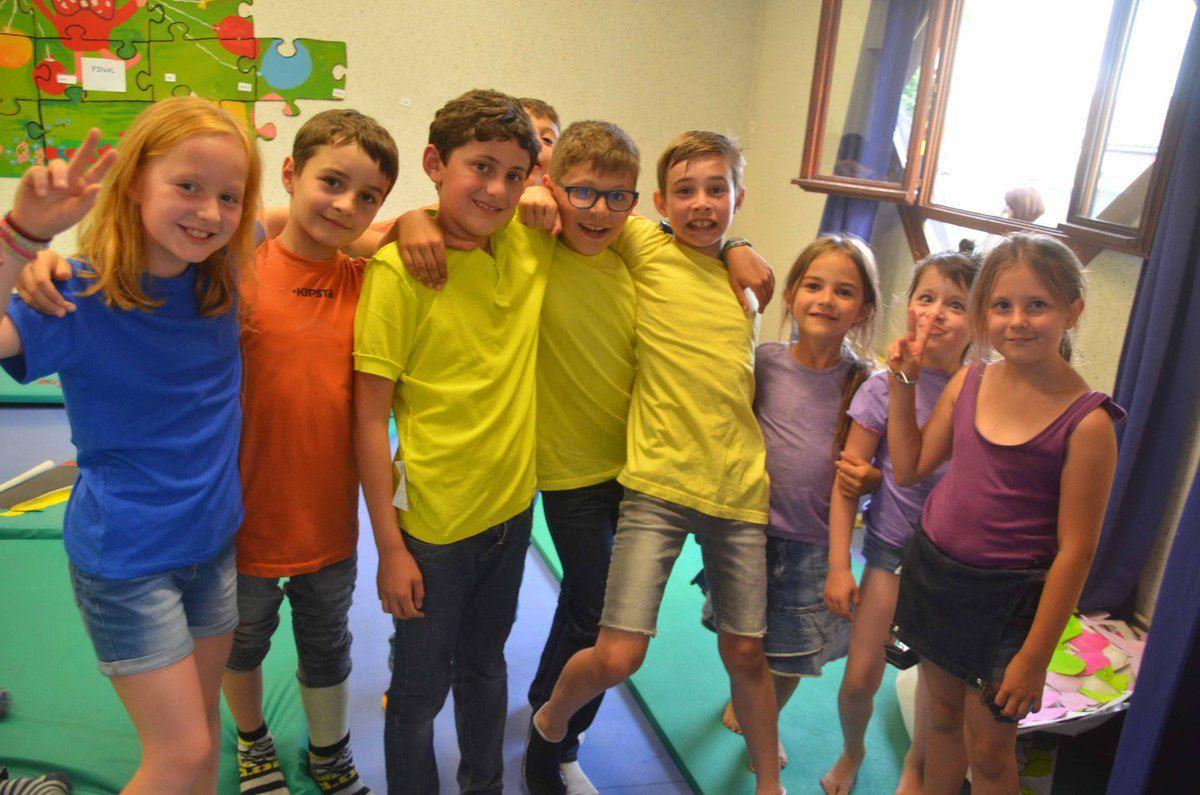 Les enfants de la garderie périscolaire ont bien fêté la fin de l'année.